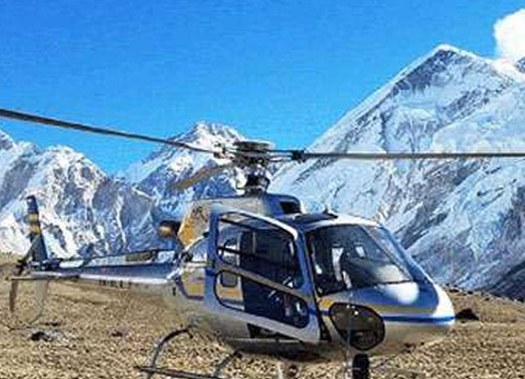 Everest helicopter flight landing tour